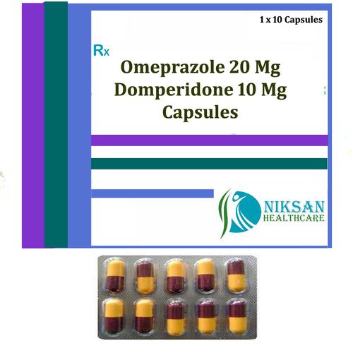 Omeprazole 20 Mg Domperidone 10 Mg Capsules