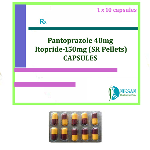 Pantoprazole 40mg Itopride 150mg (Sr Pellets) Capsules