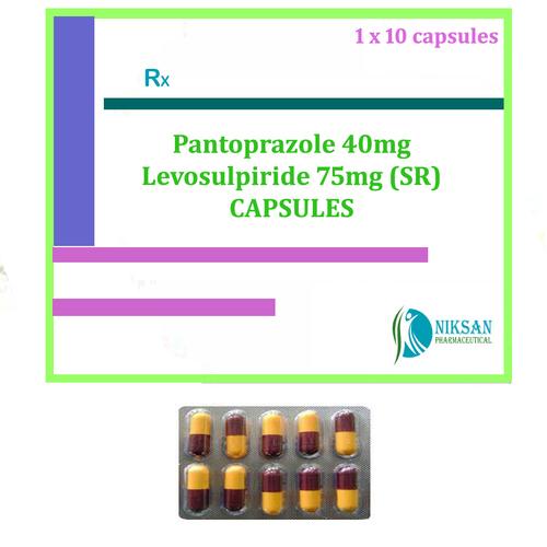 Pantoprazole 40mg Levosulpiride 75mg (Sr) Capsules