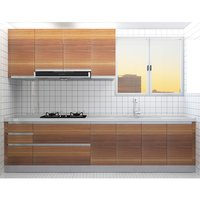 Melamine wood grain cabinet, 3M bowl basket, plain basket, seasoning basket, drawers, FOB, Shanghai, China (excluding kitchen sink of cigarette machine)