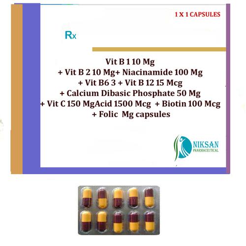 VITAMIN B1 B2 B6 B12 C BIOTIN CALCIUM CAPSULES