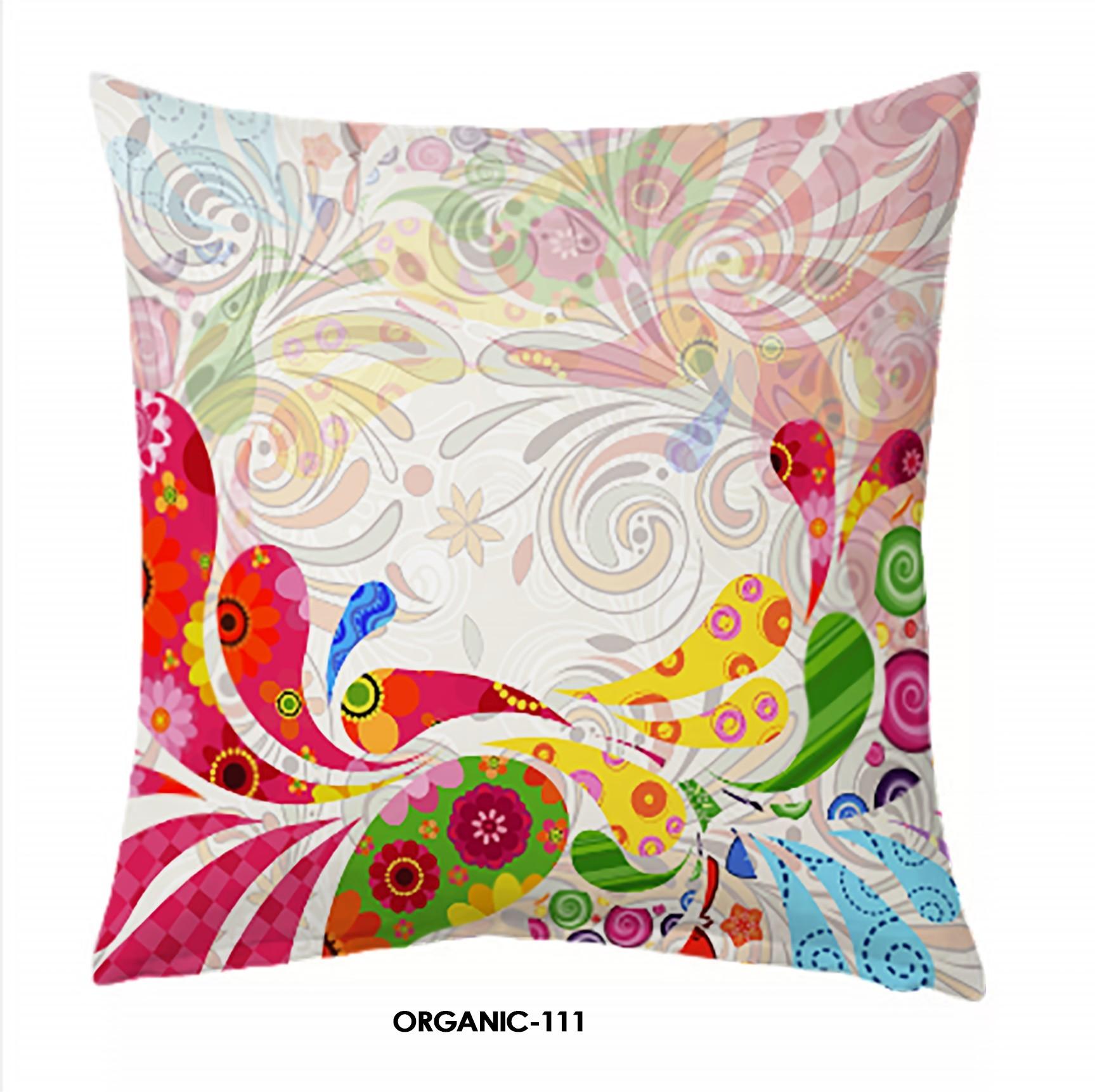 Jute Digital Print Cushion Cover