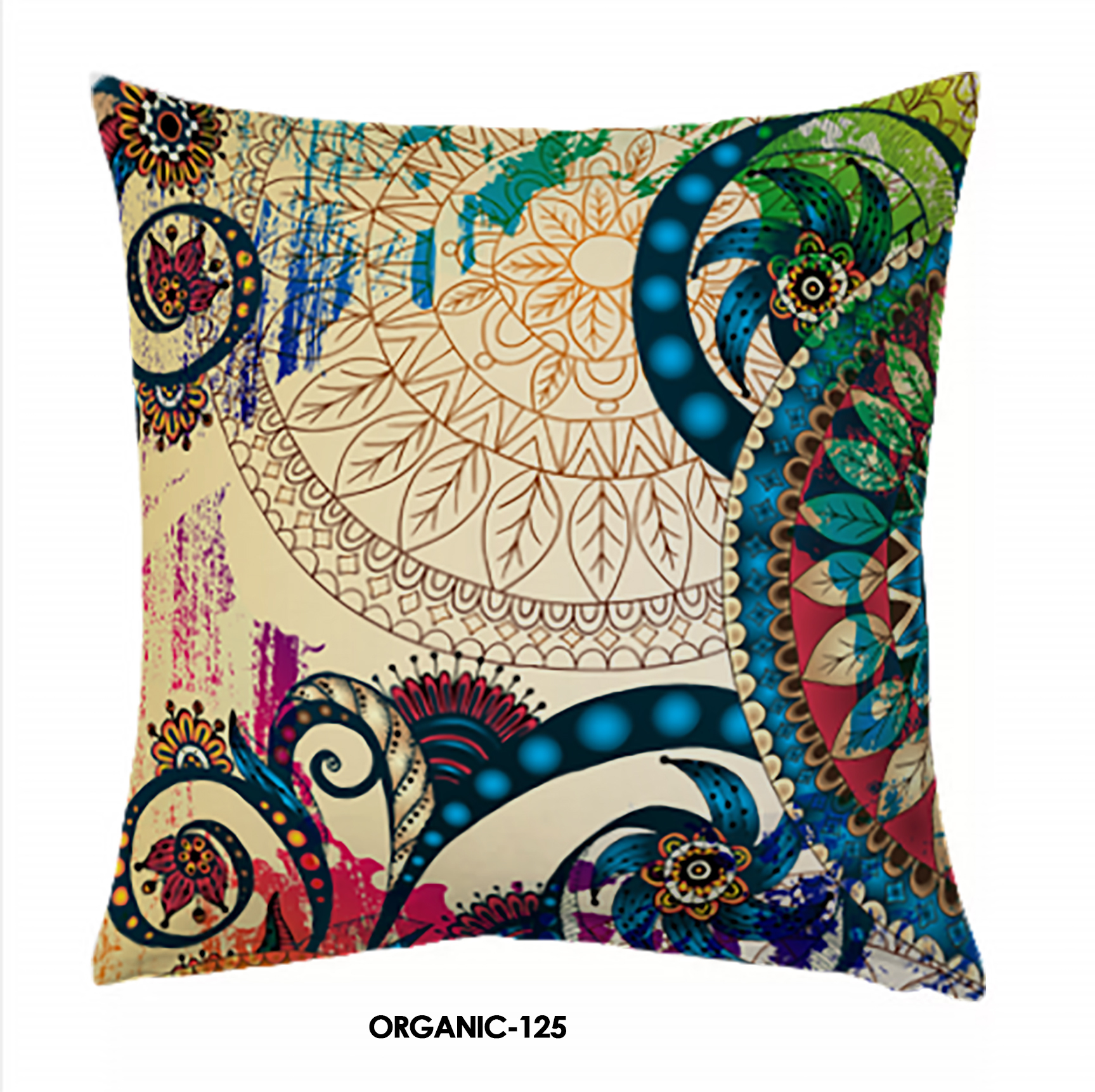 Jute Digital Print Cushion Cover