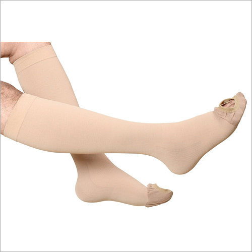 Cotton Anti Embolism Stockings Knee Length for DVT Prophylaxis