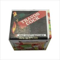 Wax Safety Matches Travos Cock