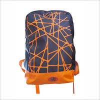 Orange Printed Backpack