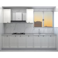 European moulded white door cabinet with 3M quartz stone countertop FOB Shanghai, China (excluding kitchen sink of cigarette machine)
