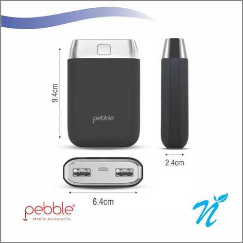 Pebble Powerbank 10000 mAh Power Bank Grey