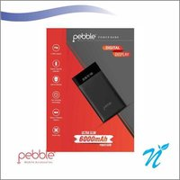 Pebble Powerbank 6000 mAh Power Bank Black