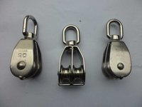 High Quality Stainless Steel Heavy Steel Single Wheel Swivel Lifting Rope Pulley Block