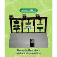 Hydraulic Operated Multipurpose Areca Leaf Machine