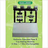 4 Die  Hydraulic Operated Plate And Cup Making Machine