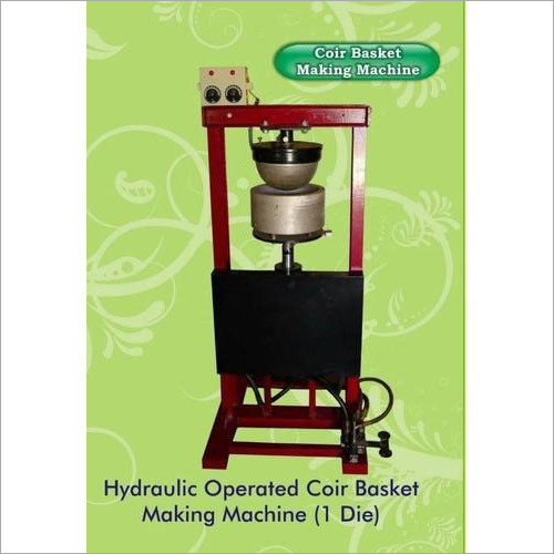 1 Die Coir Basket Making Machine