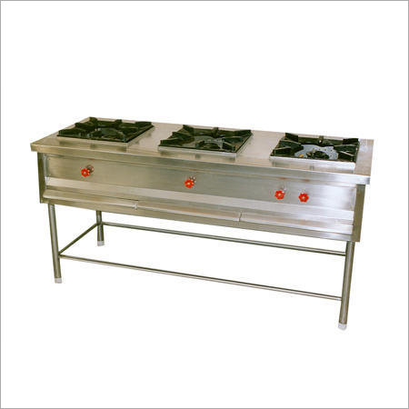 Stainless Steel 3 Burner Cooking Range