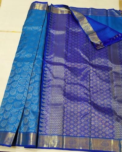 Blue Color Pure Silk Sarees