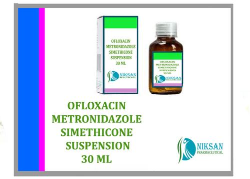 OFLOXACIN METRONIDAZOLE SIMETHICONE SUSPENSION