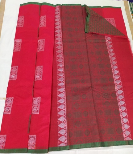 Wedding Kora Cotton Saree