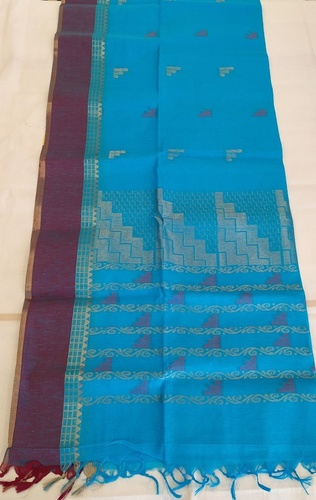 Designer Kora Cotton Saree