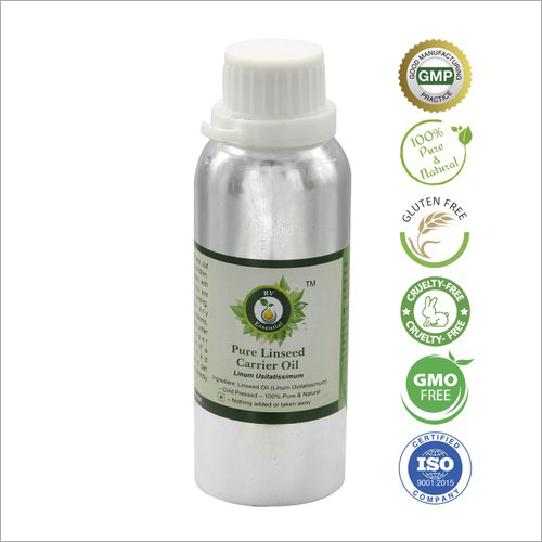 Linseed Oil Pure Linseed Carrier Oil Linum Usitatissimum 100% Pure And Natural Cold Pressed
