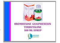 BROMHEXINE GUAIPHENESIN TERBUTALINE SULPHATE 100 ML SYRUP