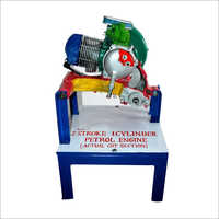 Single Cylinder Two Stroke Petrol Engine Actual Cut Section Model