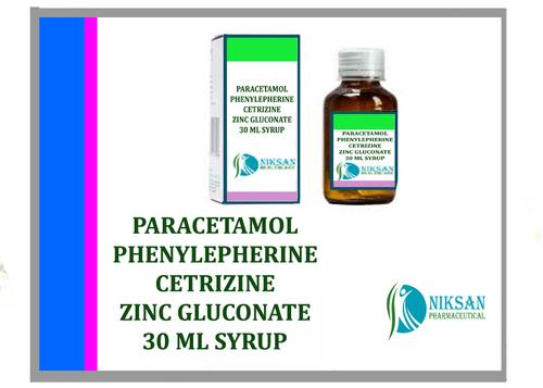 Paracetamol Phenylepherine Cetrizine Zinc Gluconate Syrup