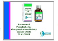Paracetamol Phenylepherine Cpm Sodium Citrate Syrup