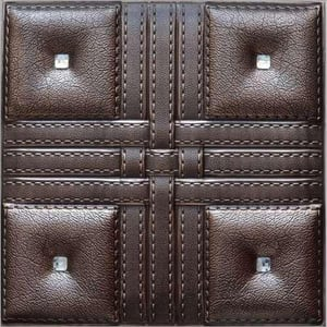 Leather Faux Wall Panel