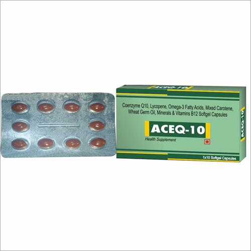 Coenzyme Q10 Lycopene Omega-3 Fatty Acids Mixed Carotene Wheat Germa Oil Minerals Vitamins B12 Softgel Capsules