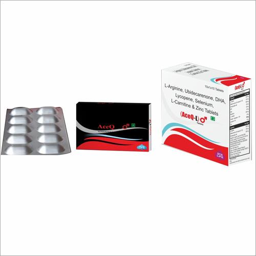 L-Arginine Ubidecarenone DHA Lycopene Selenium L-Carnitine Zinc Tablets