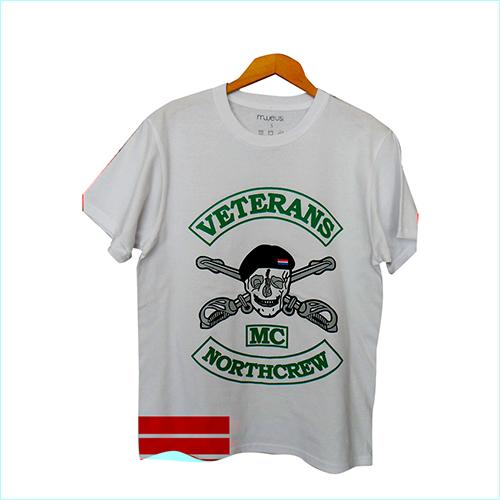 Mens White Cotton T-Shirt
