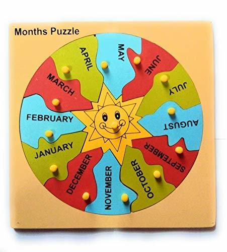 Month Puzzle Knob