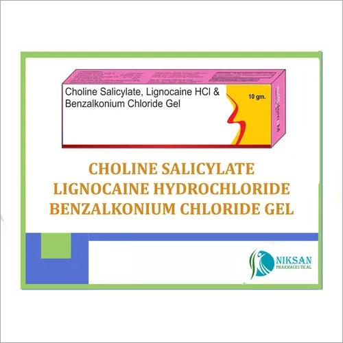 Choline Salicylate Lignocaine Hcl Benzalkonium Gel