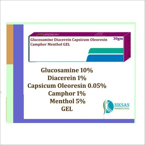 Glucosamine Diacerein Capsicum Oleoresin Menthol Gel