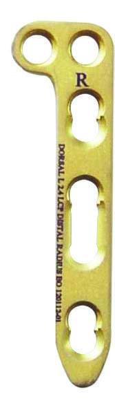 2.4mm Distal Radius Locking Plate Straight Head 3 Hole