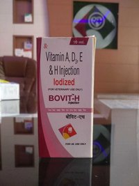 Vitamin A D E H Injection Iodized For Veterinary Use only