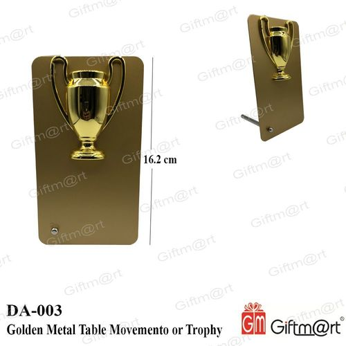 Golden Table Metal Trophy