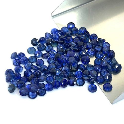 2mm Natural Blue Sapphire Stone Faceted Round Gemstone