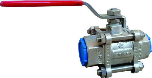 Three Piece Ball Valve Screwed Ends