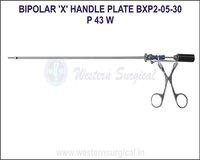 Bipolar 'X' Handle Plate