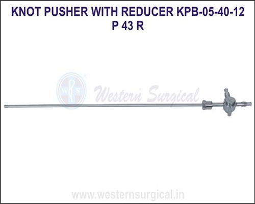 Knot pusher with reducer