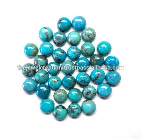 6mm Natural Blue Arizona Turquoise Stone Round Cabochon Loose Gemstone