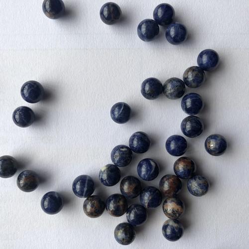 7mm Natural Sodalite Smooth Round Gemstone Spheres Undrilled Calibration