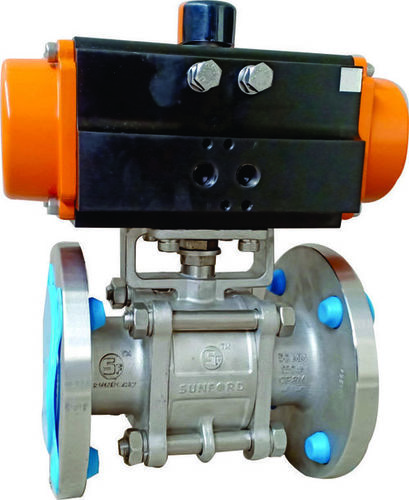 Three piece Rotary Actuated Ball Valves