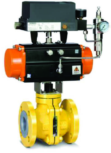 PFA And FEP Lined Rotary Actuated Ball valve