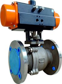 Two Piece Rotary Actuated Ball Valve