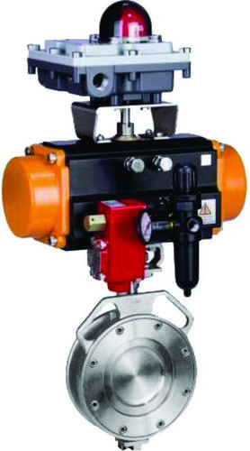Rotary Actuated Sphearical Butterfly Valve