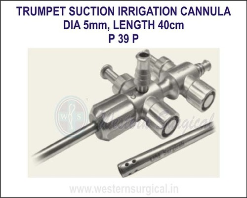 Trumpet suction irrigation cannula