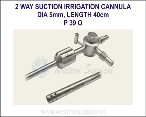 2 way suction irrigation cannula