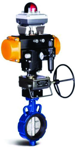 Rotary Actuated Center Disk Butterfly Valves